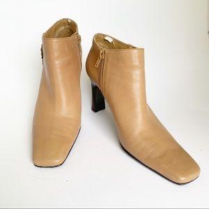 BANDOLINO Camel Ankle Bootie Size 7.5